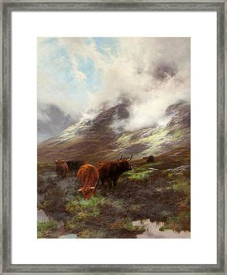 The Head Of The Glen, 1894 Framed Print by Peter Graham