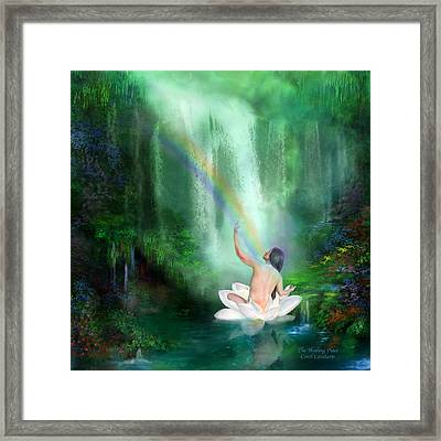 The Healing Place Framed Print by Carol Cavalaris