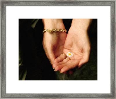 The Heart Given Freely  Framed Print by Georgiana Romanovna