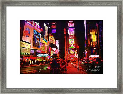 The Heart Of Manhattan Framed Print by John Malone