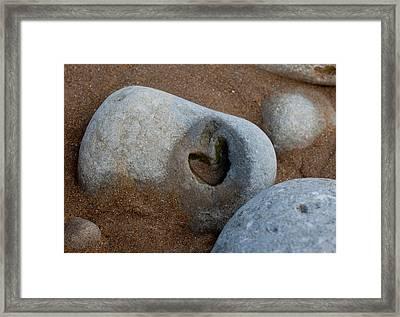 The Heart Of Omaha Beach Framed Print by John Daly