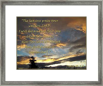 The Heavens Praise Framed Print by Glenn McCarthy Art and Photography