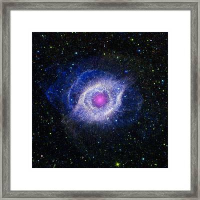 The Helix Nebula Framed Print by Adam Romanowicz