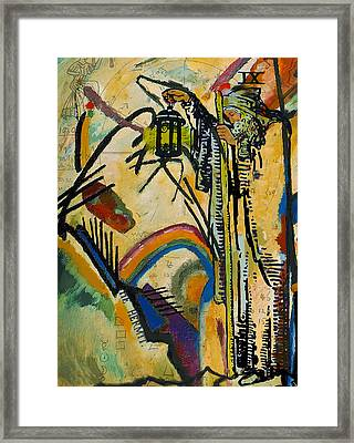 The Hermit Tarot Card Framed Print by Corporate Art Task Force