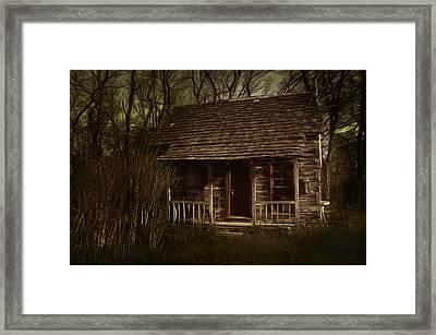 The Hermit's Cabin Framed Print by Julie Dant