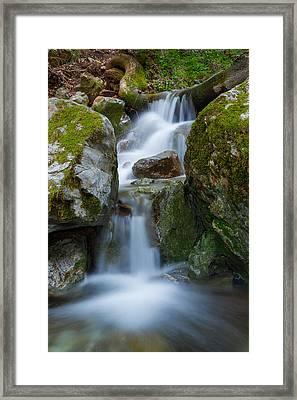 The Hidden Waterfall Framed Print by Sarit Sotangkur