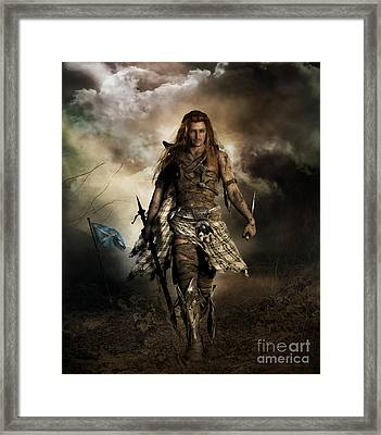 The Highlander Framed Print by Shanina Conway