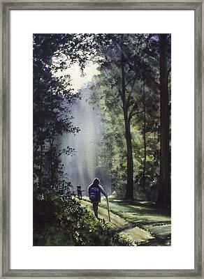 The Hiker Framed Print by Rita Cooper