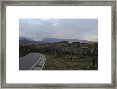The Hills Of The Wine Framed Print by Salvatore Gabrielli