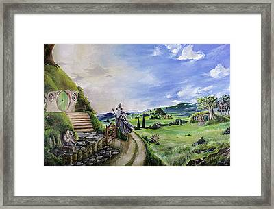 The Hobbit - Unexpected Visit Framed Print by Alessandro Serra
