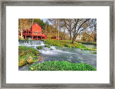 The Hodgson Water Mill - Missouri Framed Print by Gregory Ballos