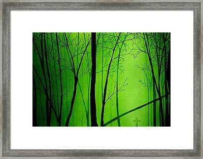 The Hollow Framed Print by Kyle  Brock