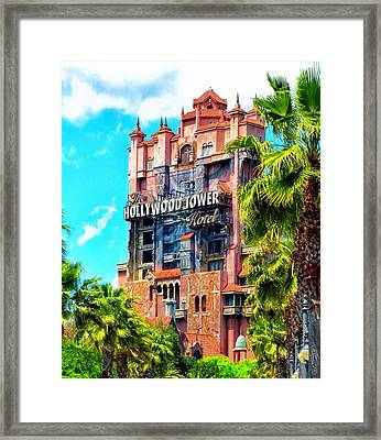 The Hollywood Tower Hotel Walt Disney World Framed Print by Thomas Woolworth