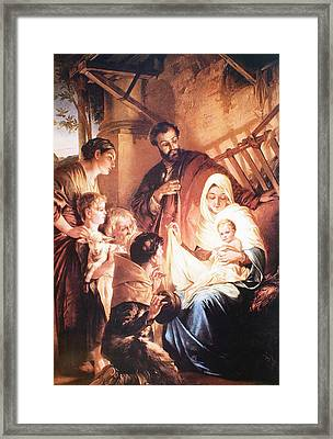 The Holy Family Framed Print by Unknown