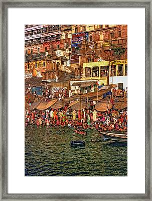 The Holy Ganges Framed Print by Steve Harrington