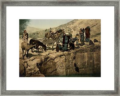 The Holy Land Circa 1890 Framed Print by Aged Pixel