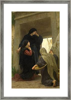 The Holy Women At The Tomb Framed Print by William Bouguereau