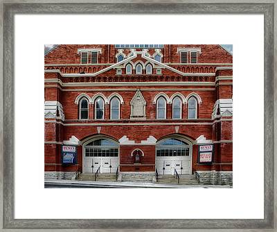 The Home Of Country Music Framed Print by Mountain Dreams
