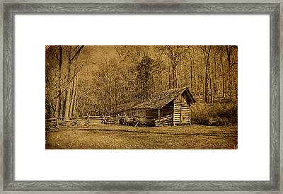 The Homeplace - Field Crib Framed Print by Sandy Keeton