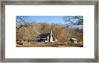 The Homeplace - Main House Framed Print by Sandy Keeton