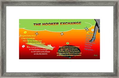 The Hooker Exchange Framed Print by Pablo