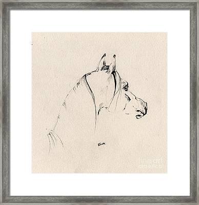 The Horse Sketch Framed Print by Angel  Tarantella