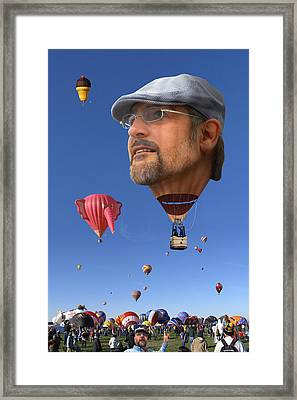 The Hot Air Surprise Framed Print by Mike McGlothlen