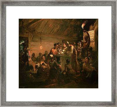 The Hour Of Emancipation, 1863 Oil On Canvas Framed Print by William Tolman Carlton