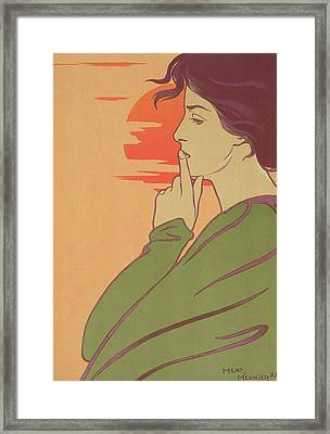 The Hour Of Silence Framed Print by Henri Georges Jean Isidore Meunier