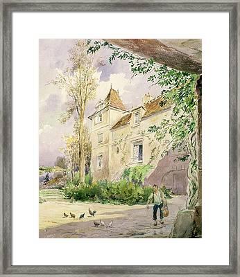The House Of Armande Bejart Framed Print by Henri Toussaint