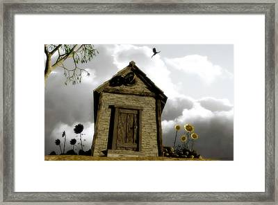 The House Of Light And Shadow Framed Print by Cynthia Decker