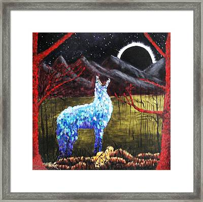 The Howling Framed Print by Sandra Lewis