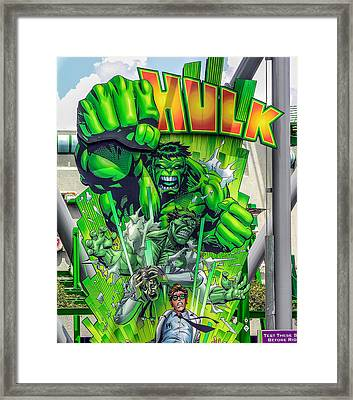 The Hulk Framed Print by Charles A LaMatto