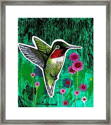 The Hummingbird Framed Print by Genevieve Esson