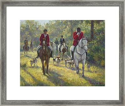 The Hunt Framed Print by Laurie Hein