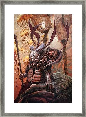 The Hunter And His Henchman  Framed Print by Ethan Harris