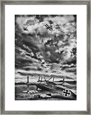 The Hunter Bw Framed Print by Peter Chilelli
