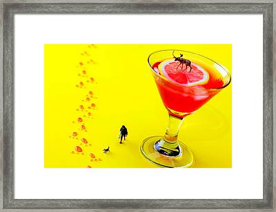The Hunting Little People Big Worlds Framed Print by Paul Ge