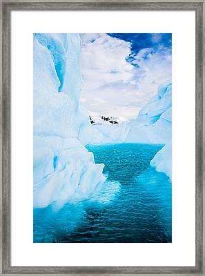 The Iceberg Lagoon - Antarctica Iceberg Photograph Framed Print by Duane Miller