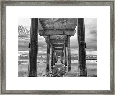 The Iconic Scripps Pier Framed Print by Larry Marshall