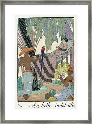 The Idle Beauty Framed Print by Georges Barbier