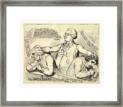 The Impeachment, Or The Father Of The Gang Turned Kings Framed Print by Litz Collection