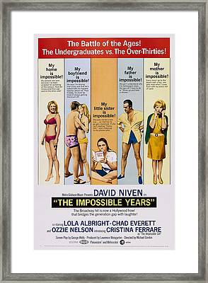 The Impossible Years, L-r Cristina Framed Print by Everett