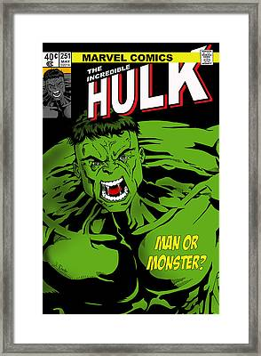The Incredible Hulk Framed Print by Mark Rogan