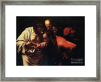 The Incredulity Of Saint Thomas Framed Print by Pg Reproductions