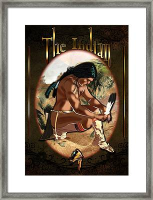 The Indian Framed Print by Graphicsite Luzern