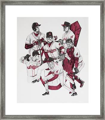 The Indians' Glory Years-late 90's Framed Print by Joe Lisowski