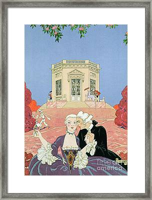 The Indolents Framed Print by Georges Barbier