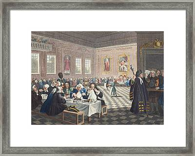 The Industrious Prentice Grown Rich Framed Print by William Hogarth