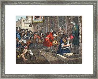 The Industrious Prentice Framed Print by William Hogarth